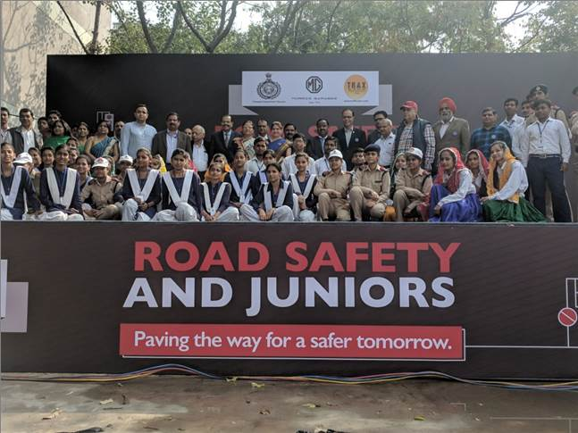 MG Motor India partners Haryana Government and Trax for road safety programme to develop road safety across 200 schools to reach 300,000 school students in Haryana