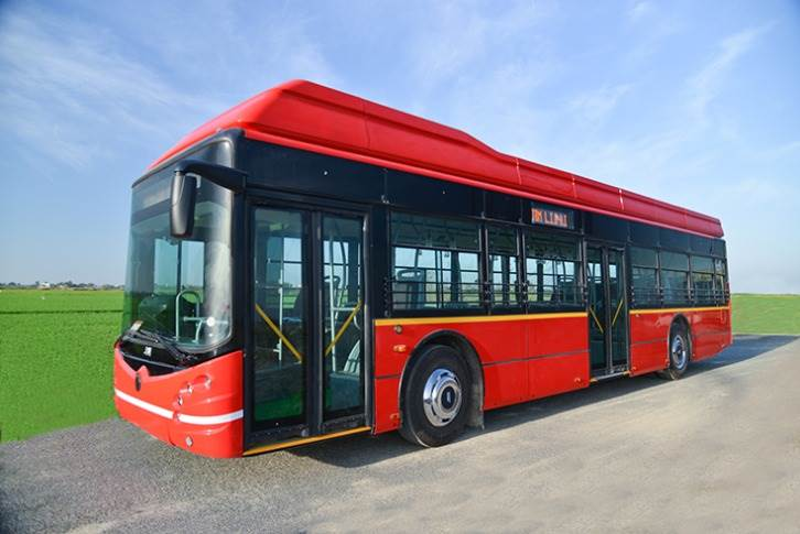 The 12-metre-long Eco-Life electric bus. JBM claims it can save around 1000 equivalent tons of carbon dioxide and 350,000 litres of diesel over 10 years of operation.