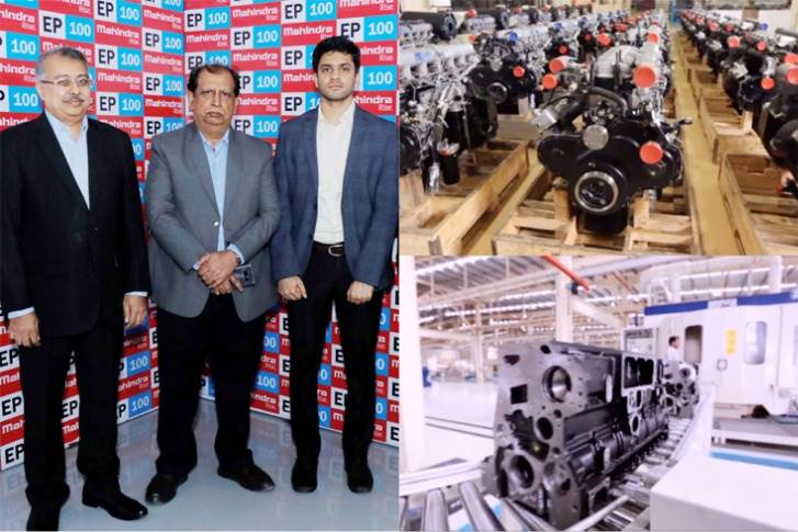 L-R: Anirban Ghosh, Chief Sustainability Officer, Mahindra Group; Vijay Kalra, Chief of Manufacturing Operation, Automotive Sector, M&M and Atul Mudaliar from The Climate Group, at MHEL Chakan plant.