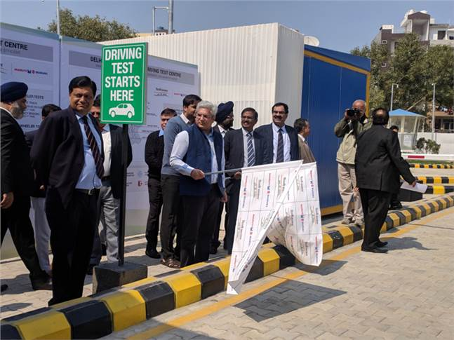 Delhi Minister of Transport, Kailash Gahlot inaugurated the state-of-the-art fully automated driving test centre.
