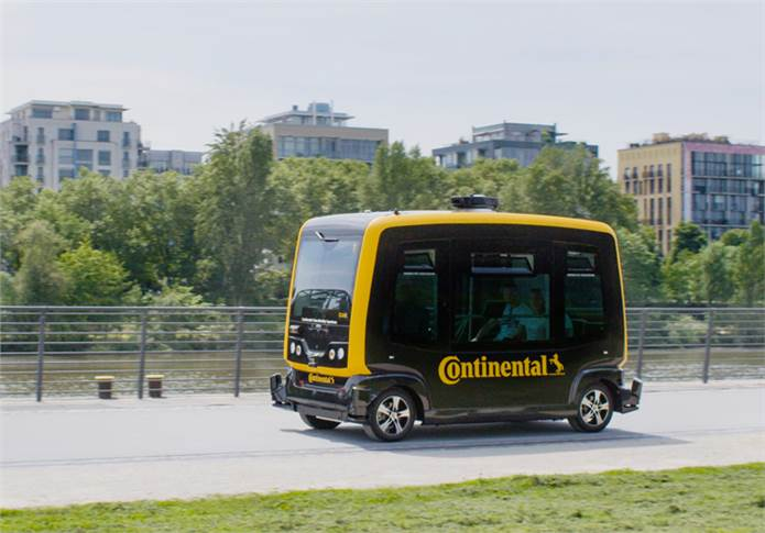 The central development platform for robo-taxis is the CUbE, a small driverless shuttle based on the EZ10 platform, which deploys Continental technologies such as brake systems & surroundings sensors.