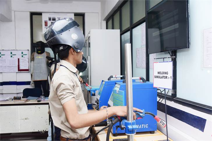 A student at Maruti Suzuki's Japan-India Institute for Manufacturing at Ganpat University in Mehsana, Gujarat.