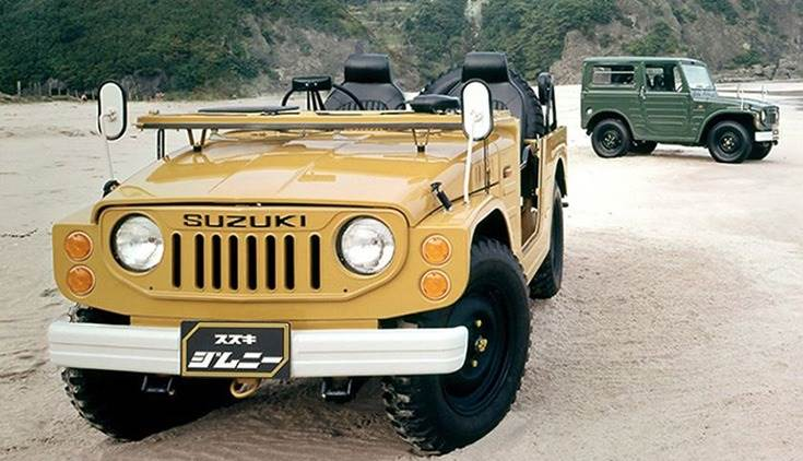 In February 1975, the 4-seater soft-top version of the LJ20 Jimny made its debut. While all previous versions were either 2- or 3-seater, this model was actually the first 4-seater of the Jimny series