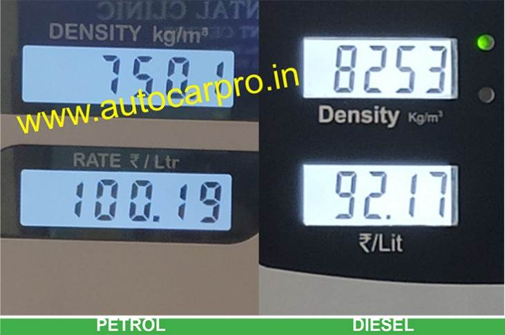 Today's price hike makes diesel costlier by 30 paise, taking the fuel to Rs 92.17 a litre in Mumbai. Petrol-diesel price differential is now down to just Rs 8.02 a litre.
