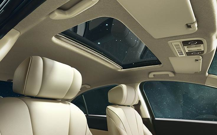 Electric sunroof. This feature seems to be becoming de rigueur for the premium midsized sedan segment.