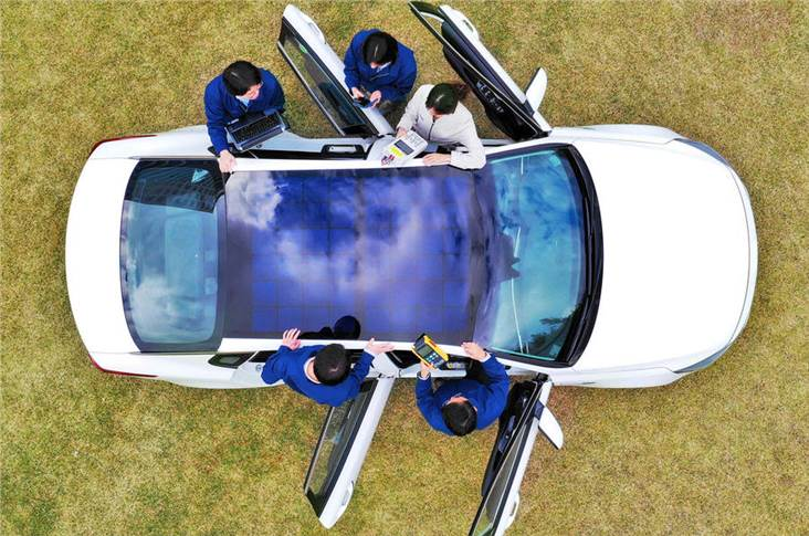 Hyundai Motor Group is developing solar roof technology