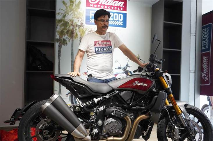 Pankaj Dubey, Managing Director, Polaris India with the 2019 FTR 1200 S Race Replica.