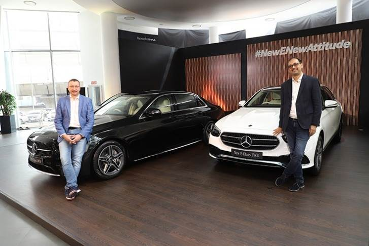 Martin Schwenk, MD and CEO, Mercedes-Benz India and Santosh Iyer, Vice- President, Sales and Marketing, Mercedes-Benz India.