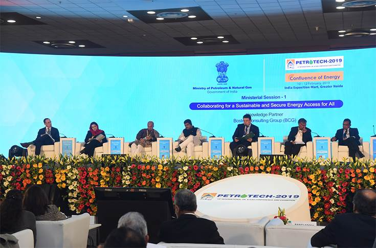 One of the Ministerial sessions at Petrotech 2019