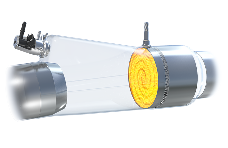 The capability to rapidly heat up the catalytic converter at all times increases the overall efficiency of exhaust-gas aftertreatment, enabling the vehicle to meet very stringent Euro 7 norms.