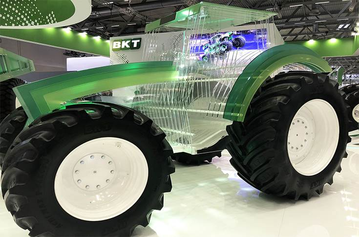 BKT Tractor made of plexiglass at Automechanika 2018