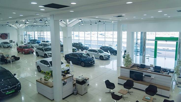 The new dealership offers space for 40 vehicles across 1,200 square metres, making it the Czech car manufacturer's largest showroom in the world.