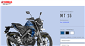 MT 15 among the motorcycles currently available on the digital platform.
