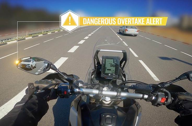 . Two IP69K-rated video units begin recording the moment the motorcycle is turned on, and feature 2-hour looped footage that is uploaded to the Ride Vision app.