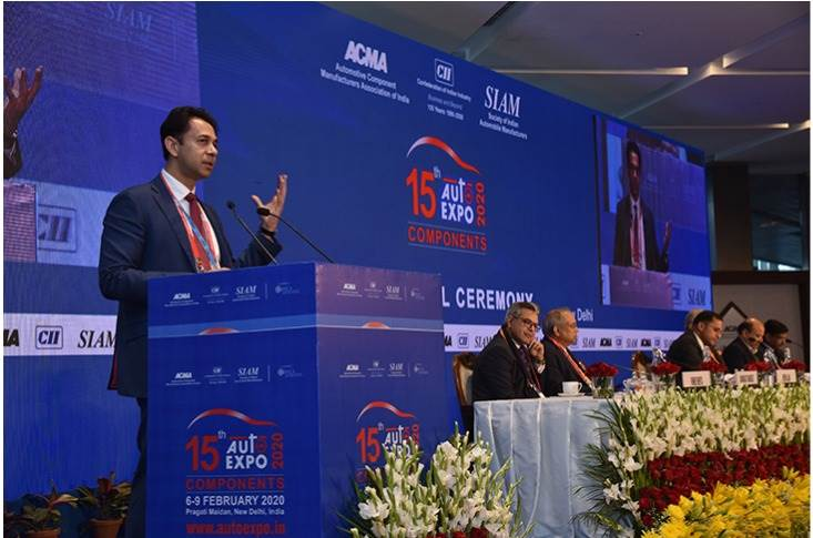 """Deepak Jain, President, ACMA: We are the 'gear' that is 'accelerating' India's growth 'engine' and a key 'driver' of the 'Make in India' program. This Expo is therefore a true reflection of the component industry's shared achievements and excellence."""""""