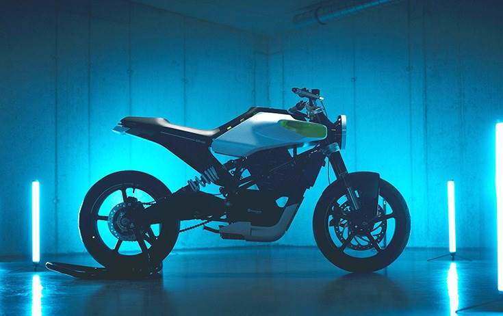 The E-Pilen Ccncept electric motorcycle has a power output of 8 kW and a range of 100km.
