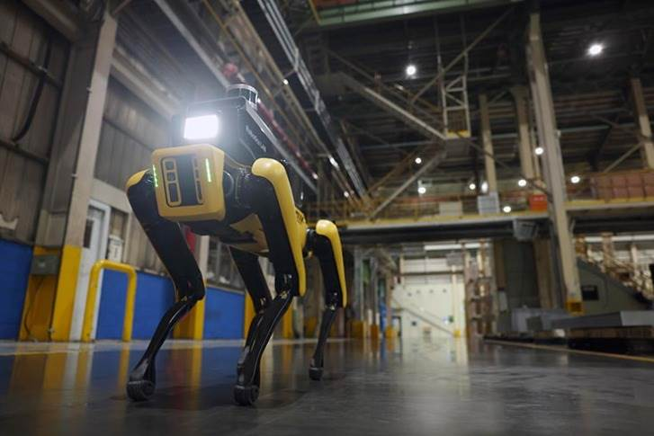 Factory Safety Service Robot's AI, autonomous navigation, and tele-operation technologies enable office personnel to observe and survey industrial areas remotely