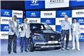 L-R: Vikas Jain, National Sales Head, HMIL; SS Kim, MD & CEO, HMIL; Albert Biermann, President, Head of R&D Division, Hyundai Motor Co and SY Lee, SVP, Head of Hyundai Global Design Centre.