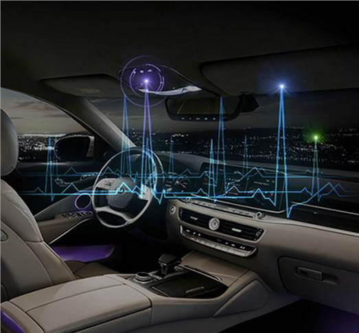 V-Touch 'Navigate Your Emotion' – Optimises lighting, sound, scent, air-conditioning, seat vibration.