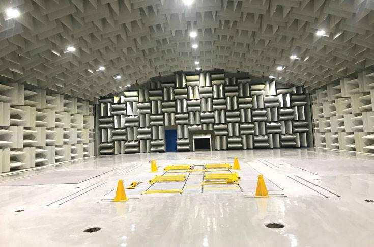 The 2.2-metre-thick walls of the NVH lab are made up of sound-absorbing materials and help study unwanted noise and vibration levels including engine, road, wind, electronic seats and brakes.