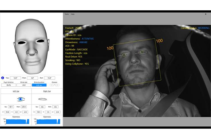 SEAT in collaboration with Eyesight Tech developing technology that uses an algorithm which analyses the eye openness, angle of vision, blink rate and head position of the driver, along with other visual attributes.