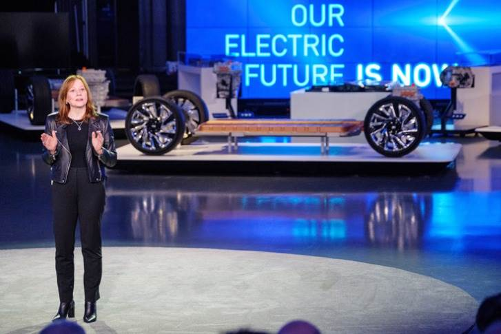 "Mary Barra: ""What we have done is build a multi-brand, multi-segment EV strategy with economies of scale that rival our full-size truck business with much less complexity and even more flexibility."""