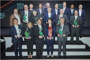 Daimler Supplier Award 2020: Daimler awarded its 12th annual Supplier Awards for outstanding achievements. For the first time, Daimler also presented an award in the