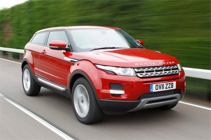 ...and stretches the face of the Range Rover Evoque over it