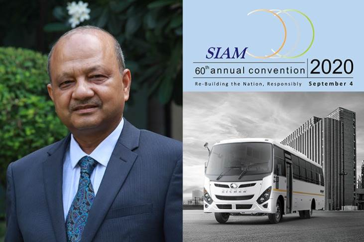 Vinod Aggarwal, MD  and CEO, Volvo Eicher Commercial Vehicles (VECV) will continue as the treasurer of SIAM.
