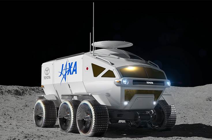 JAXA and Toyota have been conducting joint research on a manned, pressurised lunar rover that uses fuel cell electric vehicle technologies.