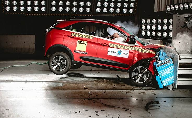 In December 2018, the Nexon became the first made-in-India car to achieve Global NCAP's five-star crash test rating, scoring five stars for Adult Occupant Protection and three stars for Child Occupant Protection.