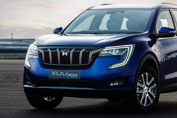 The XUV700 is the first Mahindra product to sport the new 'Twin Peaks' logo that will go all on future SUVs produced by M&M.