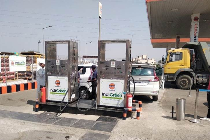 Indian Oil alternate fuel station at Talegaon Dabhade, Pune, operated by ABC India for which Noble Exchange is the supplier of compressed biogas (CBG).