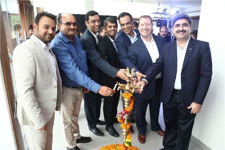 Narendra Singh Tomar, dealership principal, Central Volvo (extreme left), Charles Frump, managing director, Volvo Car India (2nd from extreme right) and Jyoti Malhotra, director- sales and marketing,