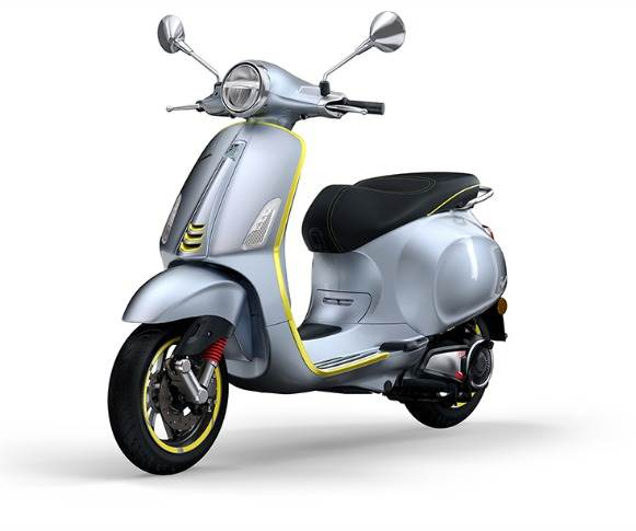 New Vespa Elettrica 70kph will be sold alongside the original 45kph electric scooter model.