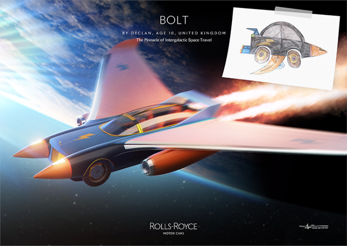 Rolls-Royce Bolt by Declan, age 10, United Kingdom.