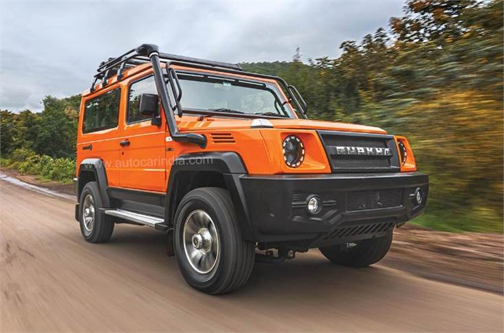 New Gurkha powered by the 2.6-litre, 91bhp Mercedes-derived common-rail, DI, turbocharged diesel engine which develops 250 Nm. Also gets 4WD with locking front and rear differentials.