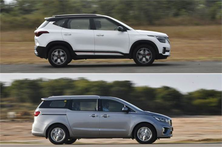 Kia says the immediate focus is on clearing pending orders for the Seltos SUV and Carnival MPV.