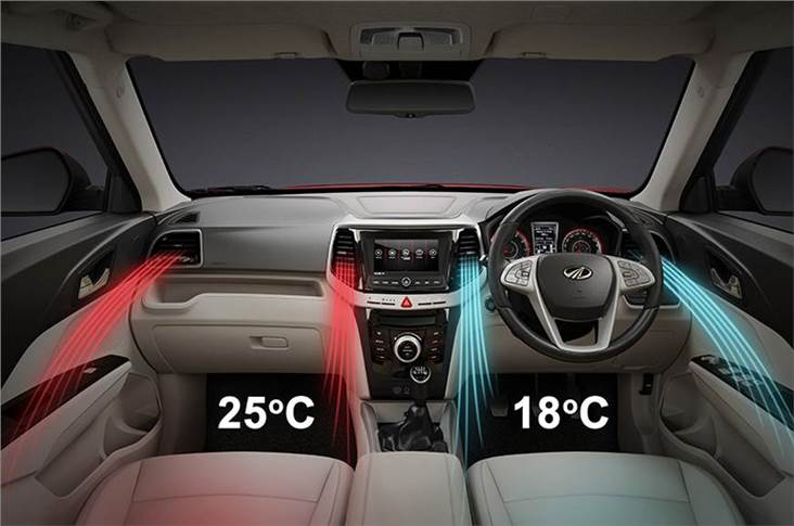 Dual-zone climate control on the XUV300 a segment first.