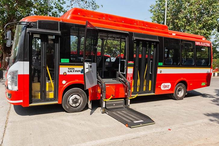 The 25-seater Tata Ultra Urban AC Electric Bus is equipped with a
