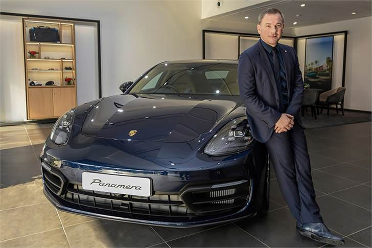 """Manolito Vujicic, Brand Head for Porsche India: """"The opening of the new showroom in the capital of Maharashtra state is an important part of the organization's strategic growth plan."""""""