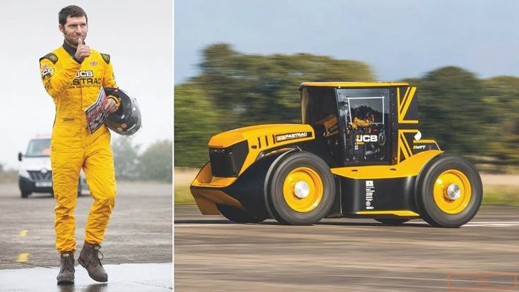 "Guy Martin: "" It was a proper privilege to be involved, so thank you very much to JCB and its engineering team, who got this tractor absolutely spot-on."""
