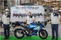 Suzuki Motorcycle India rolls out five millionth vehicle from its Gurugram plant.