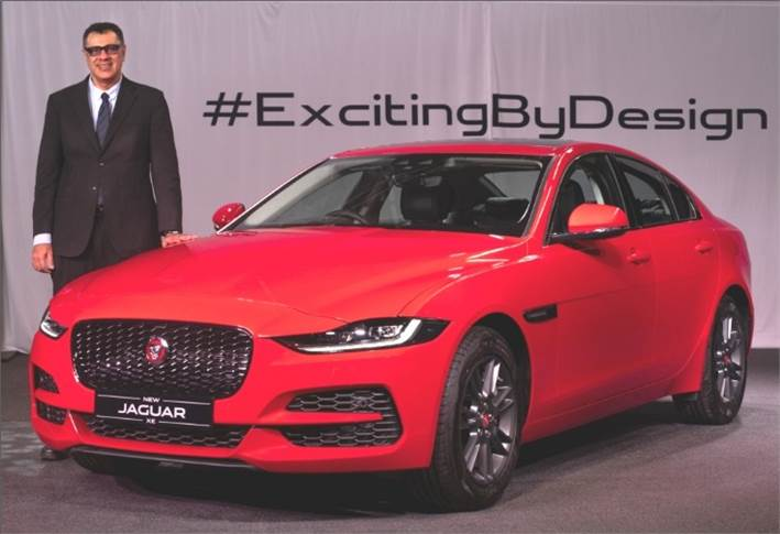 Rohit Suri, president and MD, Jaguar Land Rover India at the launch of Jaguar XE in Mumbai.