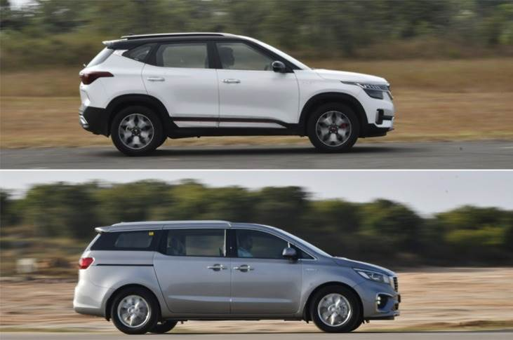 Kia Motors India sales of15,664 units – its highest sales in seven months– comprised 14,024 units of the Seltos SUV and 1,620 units of the recently launched Carnival MPV.