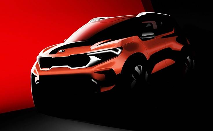 Official rendering of the Kia Sonet, which is to be revealed in production-ready form on August 7.