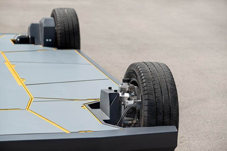 REEcorner disruptive technology integrates all drivetrain, suspension and steering components into the arch of the wheel — a by-wire control system that enables a totally flat EV platform offering more room for passengers, cargo and batteries.