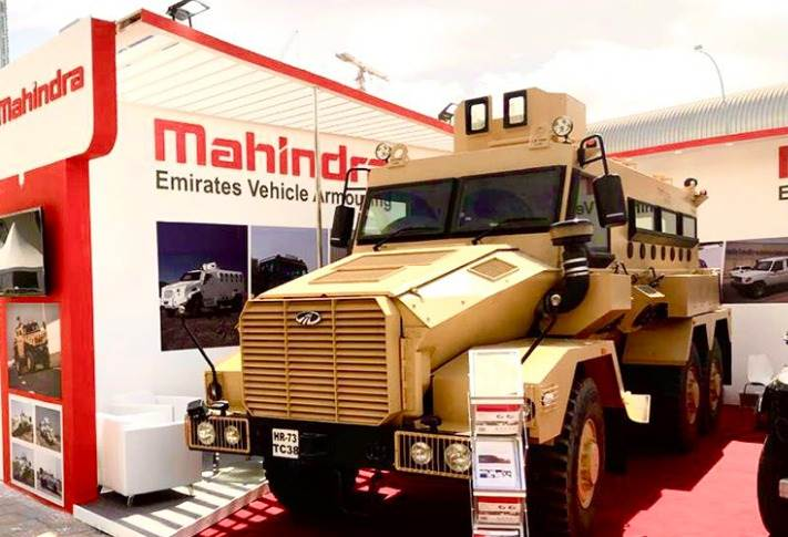 Mahindra Group company, Mahindra Emirates Vehicle Armouring is participating at the International Defence Exhibition & Conference in Abu Dhabi. (Pics: SP Shukla / Twitter)