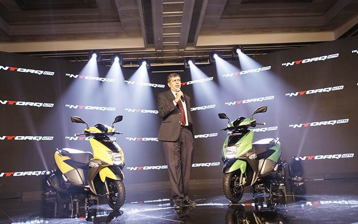 On February 5, 2018, TVS Motor Co's President and CEO KN Radhakrishnan officially launched the NTorq, priced at Rs 58,750 (ex-showroom Delhi).