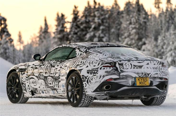 The latest Vantage was the first car to receive bespoke camouflage